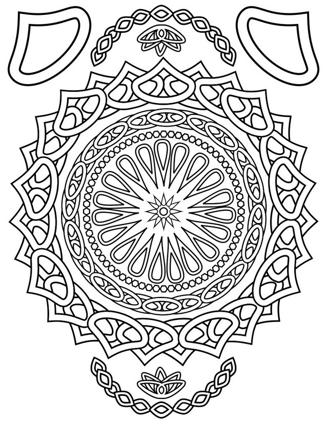 adult coloring page oriental mandala