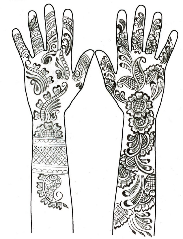 Ausmalen als Anti-Stress arabische welt : Traditionell Henna Tattoo 12