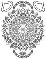 Coloriage anti-stress Mandala orient