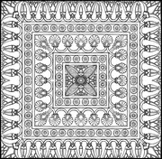 Coloriage adulte Tapis