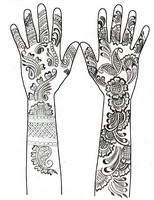 Art Therapy coloring page Henna Hand Tattoos