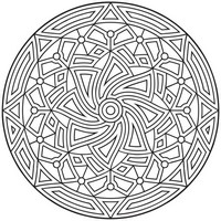 Coloriage anti-stress Mandala oriental