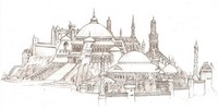 Coloriage adulte Constantinople