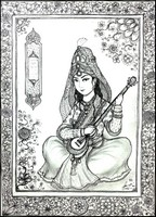 Art Therapy coloring page Persian musician