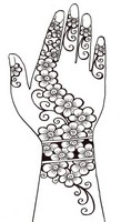 Art Therapy coloring page Henna tattoo