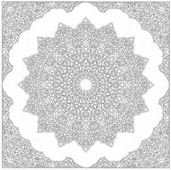 Coloriage adulte Mandala Arabie