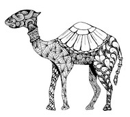 Art Therapy coloring page Dromedary