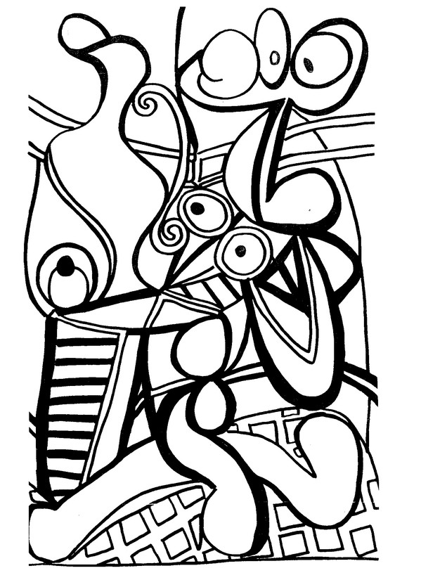 Adult Coloring Pages Picasso