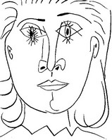 Art Therapy coloring page Portrait of Dora Maar
