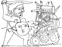 Coloriage anti-stress Guerre