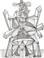 Art Therapy coloring page Picasso