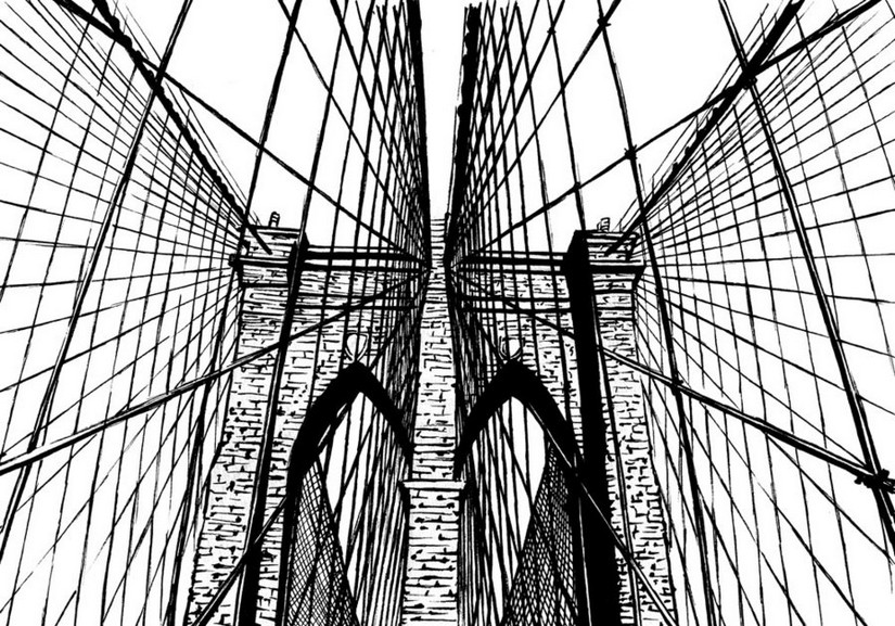 adult coloring page new york brooklyn bridge 17 Golden Gate Bridge Coloring Page Washington Bridge Coloring Page