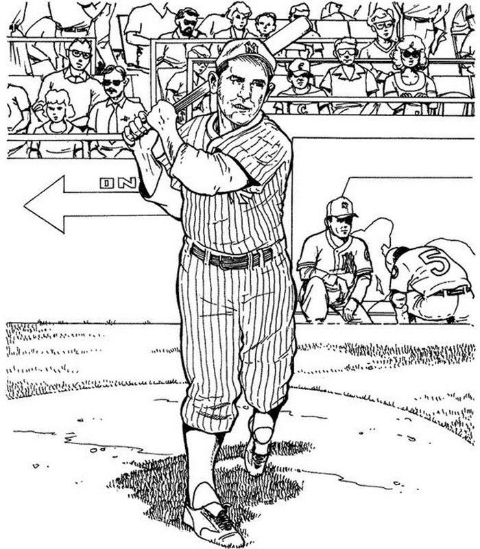 Art Therapy Coloring Page New York Ny Yankee Baseball 18