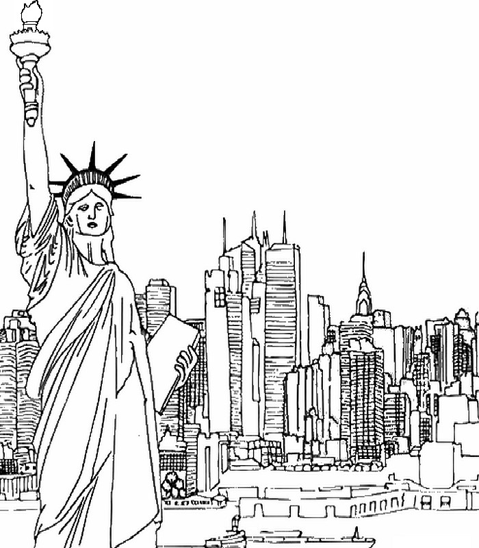 Disegno da colorar antistress New-York