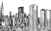 Art Therapy coloring page New-York Skyline