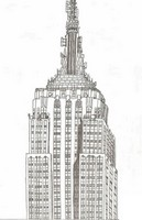 Art Therapy coloring page Empire State Building