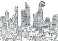 Art Therapy coloring page Manhattan Skyline