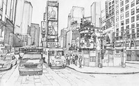 Art Therapy coloring page Times Square