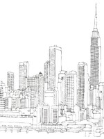 Art Therapy coloring page New-york and Empire State Building