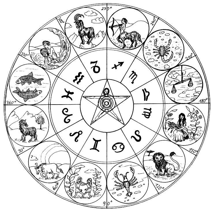 Desenho Para Colorir Anti Stress Astrologia 15
