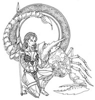 Art Therapy coloring page Scorpio