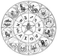 adult coloring page signs of zodiac