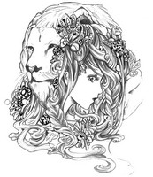 Coloriage anti-stress Lion