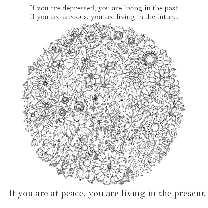 Art Therapy coloring page Zen quotes : If you are at peace ...