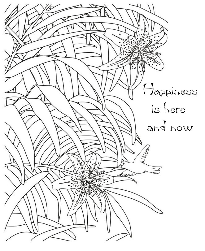 Happiness Is Here And Now More Coloring Pages Zen