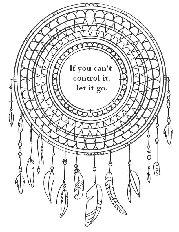 Colouring Pages For Adults With Quotes : Adult coloring page zen quotes if you can t control it