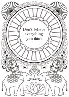 Art Therapy coloring page Don't believe everything you think