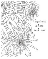 Art Therapy coloring page Happiness is here and now
