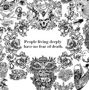 Art Therapy coloring page People living deeply<br />have no fear of death.