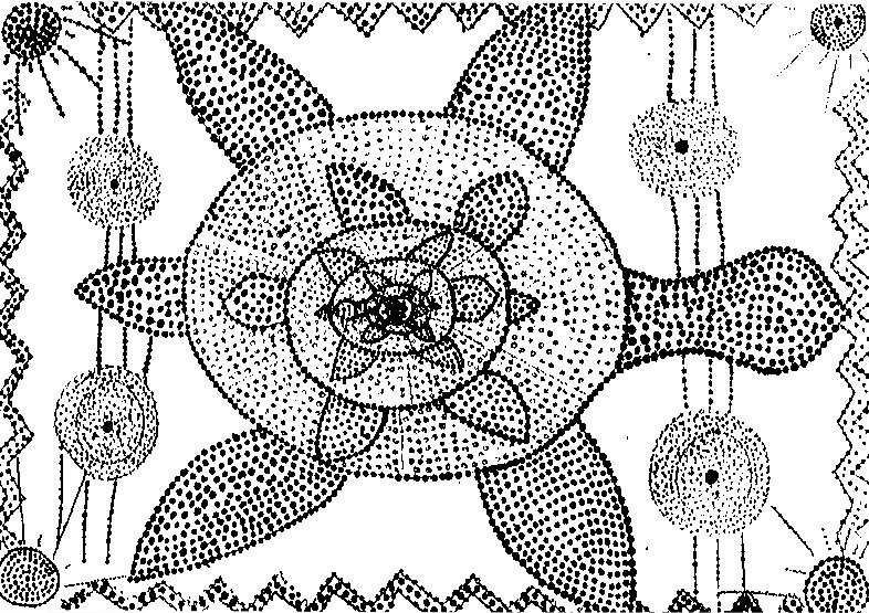 malvorlagen aborigines kunst  coloring and malvorlagan