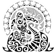 Adult coloring page Aboriginal tattoo