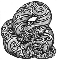 Art Therapy coloring page Snake