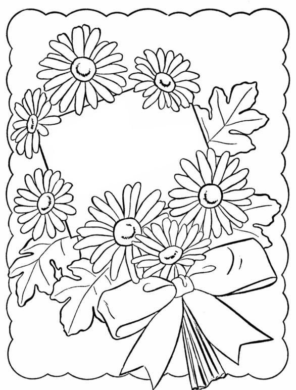 Kleurplaat Voor Verjaardag Van Mama Coloriage Anti Stress Joyeux Anniversaire Fleurs 7