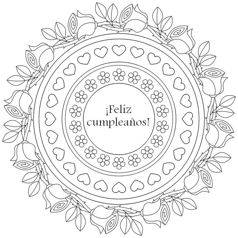 Volwassen Kleurplaten Verjaardag Dibujo Para Colorear Relajante Cumpleanos 161 Feliz
