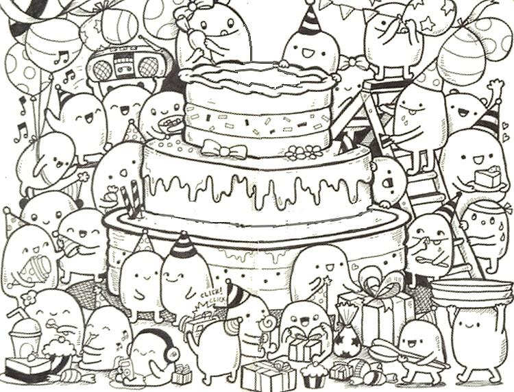 Happy Birthday Kleurplaten Verjaardag Volwassenen.Anti Stress Kleurplaten Verjaardag 9