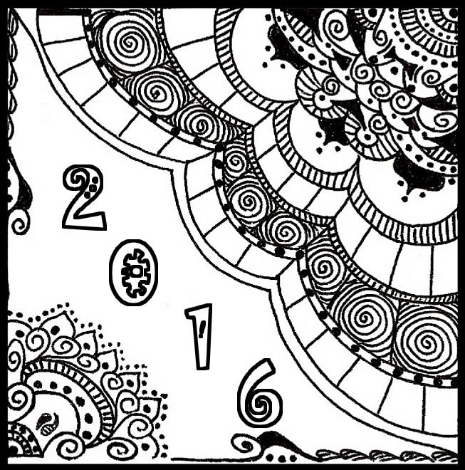 happy new year card 2016 more coloring pages