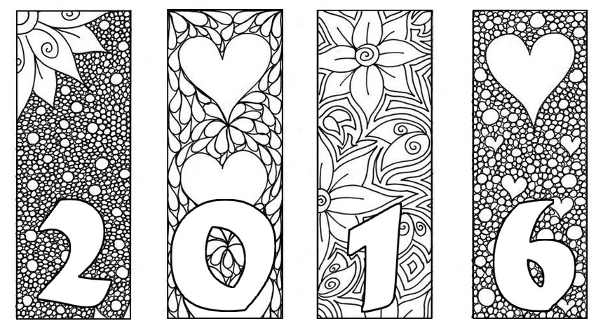 2016 card more coloring pages new year
