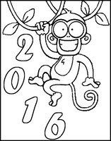 Art Therapy coloring page Year of the Monkey 2016
