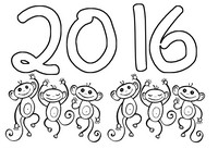 Art Therapy coloring page 2016 Fire Monkey Year