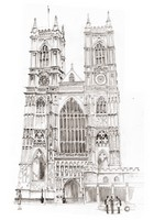 Coloriage adulte L'Abbaye de Westminster