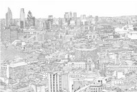 Art Therapy coloring page View from the sky