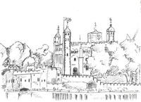 Art Therapy coloring page Tower of London