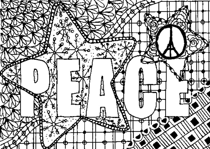coloring page peace for paris adult coloring pages adult coloring