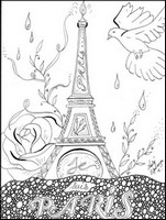 Coloriage anti-stress Je suis Paris - Laety' Esperanza