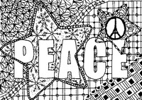 Adult coloring page Pray for Paris