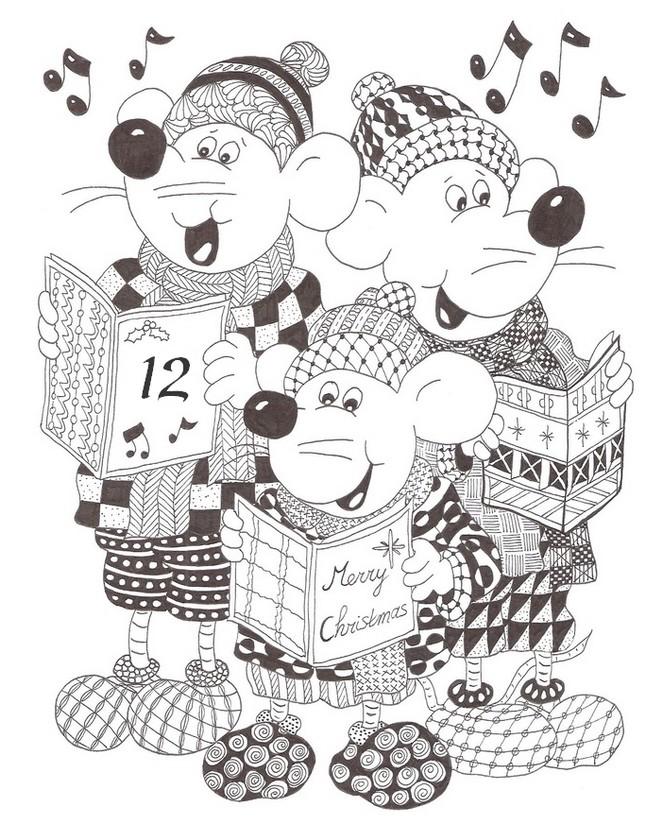 Dibujo para colorear relajante Calendario de adviento : El 12 de ...